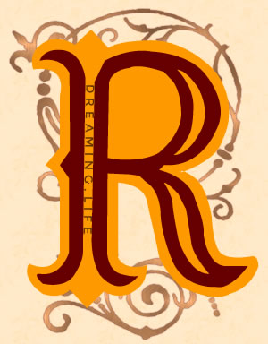 Dreaming about the letter R