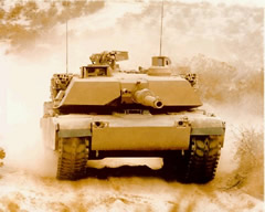 The M1A1/2 Abrams main battle tank is manufactured by General Dynamics Land Systems (GDLS). The first M1 tank was produced in 1978, the M1A1 in 1985 and the M1A2 in 1986. 3,273 M1 tanks were produced for the US Army. 4,796 M1A1 tanks were built for the US Army, 221 for the US Marines and 555 co-produced with Egypt. Egypt has ordered a further 200 M1A1 tanks with production to continue to 2005. 77 M1A2 tanks have been built for the US Army, 315 for Saudi Arabia and 218 for Kuwait. For the M1A2 Upgrade Program, over 600 M1 Abrams tanks are being upgraded to M1A2 configuration. Deliveries began in 1998