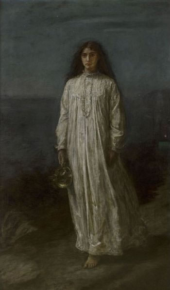 Sleepwalking. The Somnambulist by John Everett Millais